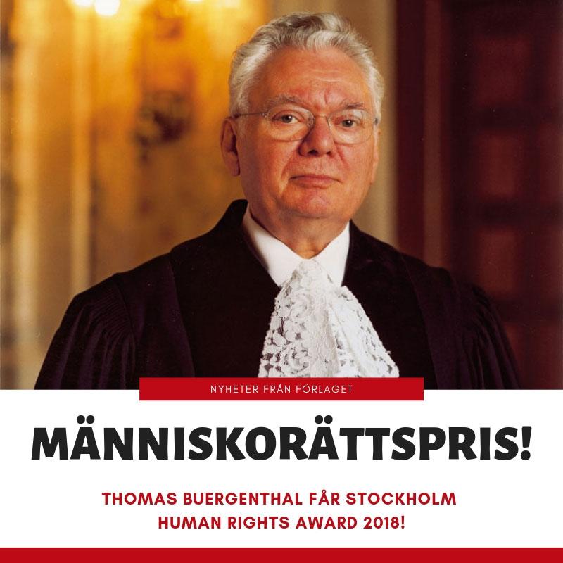 Thomas Buergenthal får Stockholm Human Rights Award 2018!