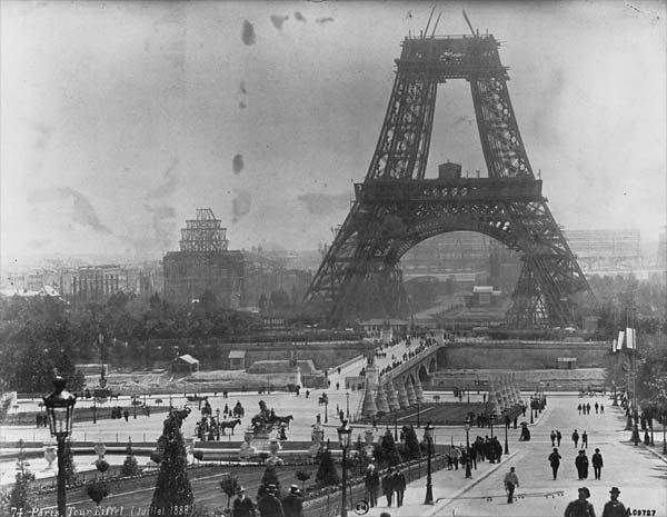 Eiffeltornet juli år 1888