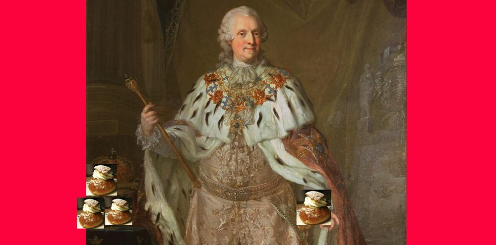 Adolf Fredrik med semlor