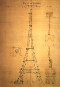 Eiffeltornet - Maurice Koechlins första ritning