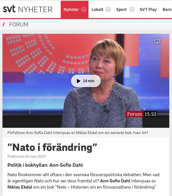 NATO i förändring - intervju i SVT
