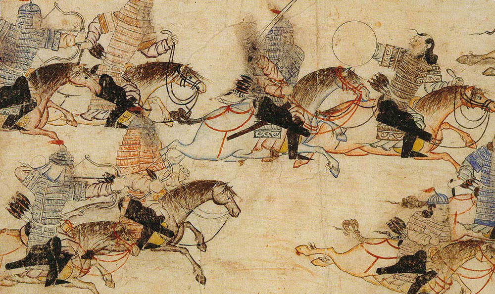 Djingis Khan - mongoliska ryttare