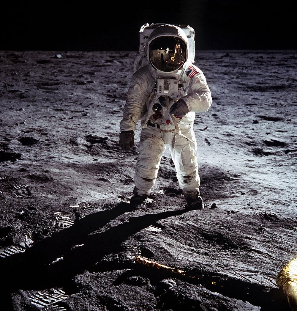 Månlandningen - Buzz Aldrin på månen