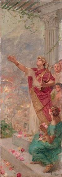 Nero spelar lyra