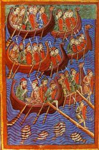 Vikingatiden: Daner landstiger i England år 866