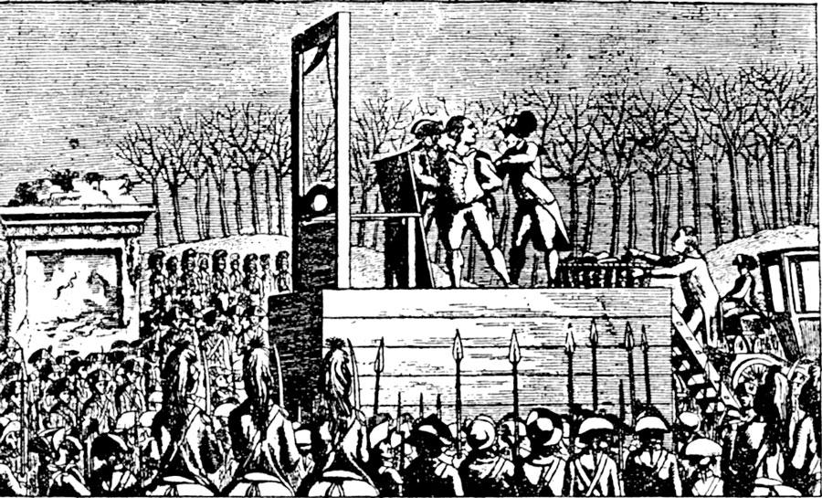 Giljotinen - Franska revolutionen