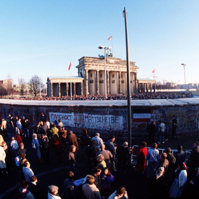 Berlinmuren vid Brandenburger Tor, 1989