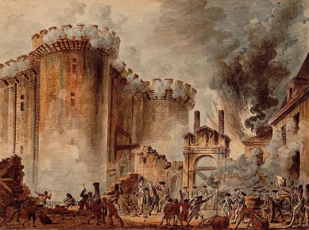 Bastiljen Stormas Och Franska Revolutionen Inleds Historiska Media