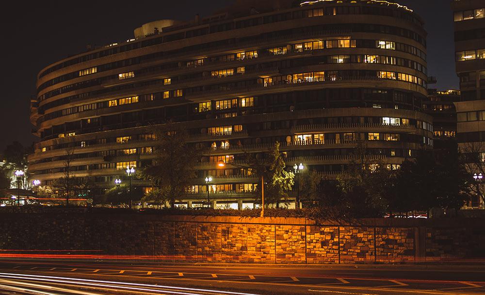 Watergate-hotellet i Washington D.C., där inbrottet ägde rum