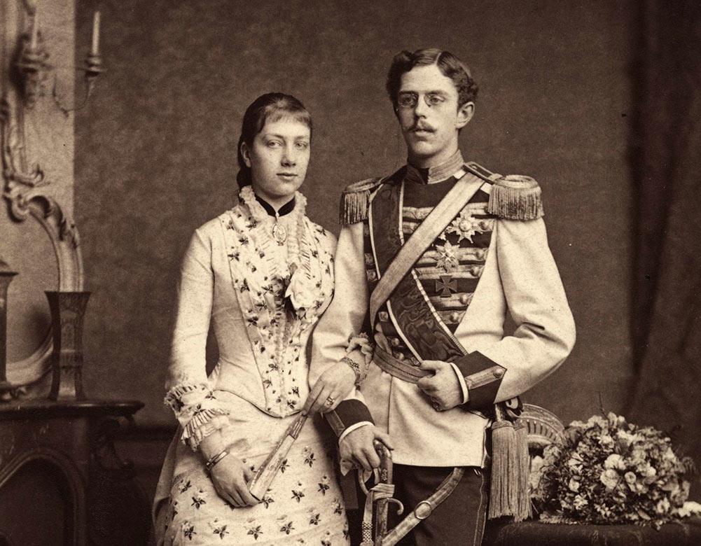 Viktoria och Gustaf (V), förlovningsfoto 1881