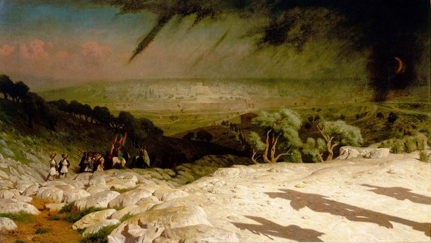 Långfredagen - Vy från Golgota mot Jerusalem