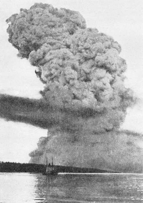 Svampmoln från explosionen i Halifax