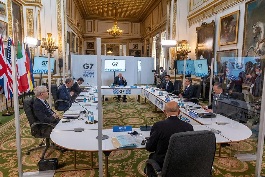 G7-möte under Coronapandemin, maj 2021